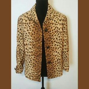 Jones New York Signature Animal Print Jacket  14
